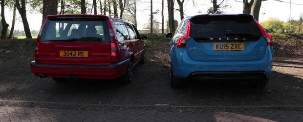 Clasic vs modern: Volvo 850 R si V60 Polestar se intrec in sunete si tonalitati