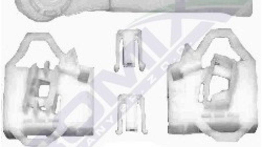 Clema Mecanism ridicare geam Seat Ibiza Cordoba 6L, Vw Polo Classic 6KV, kit reparatie macara Fata , Dreapta, fata sistem fixare cablu