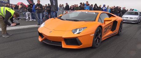 Clipeste si-l pierzi. Cum pleaca acest Lamborghini Aventador twin-turbo de 1.300 de cai