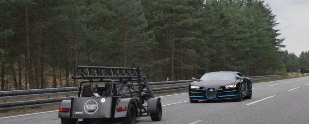 Clipul a devenit rapid VIRAL. Asa filmezi un Bugatti Chiron care ruleaza cu 400 de km/h