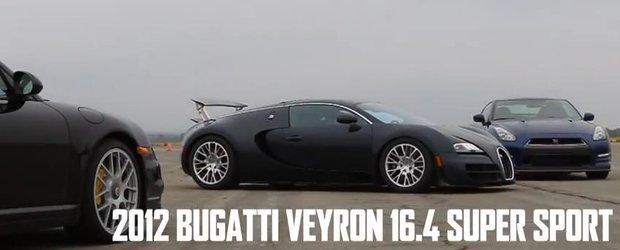 Clubul masinilor de 2 secunde: Veyron, 911 Turbo S si GT-R