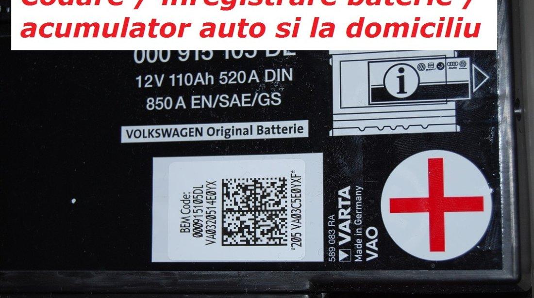 Codare inregistrare baterie acumulator auto