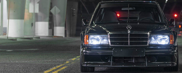 Colectionarii s-au batut pe el. Cu cat s-a vandut acest superb Mercedes 190 Evo II