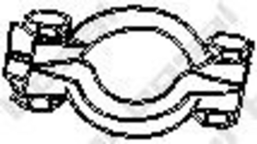 Colier, sistem de esapament CITROEN C5 III Break (TD) (2008 - 2016) BOSAL 254-950 piesa NOUA