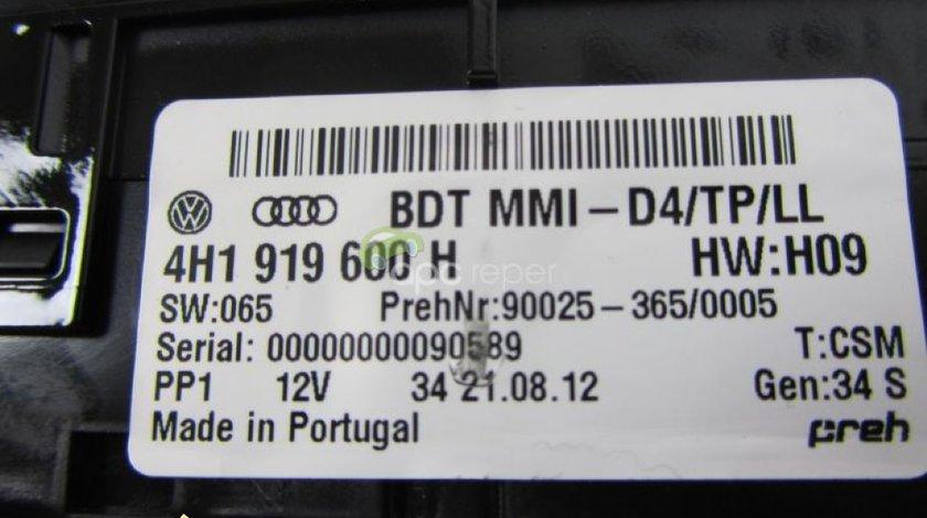 Comanda navigatie Audi A8 S8 4H originala cod 4H1919600H