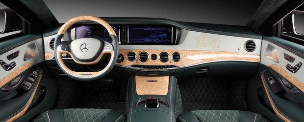 Comanda speciala: Mercedes-ul S-Class cu piele verde si pasaje religoase