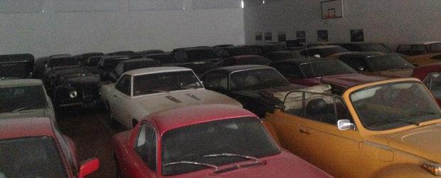 Comoara din sala de sport: aproape 100 de masini clasice si exotice descoperite intr-o hala