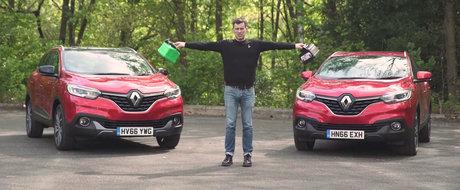 Comparatie intre motoarele pe benzina si motorina, cu acelasi tip de masina. VIDEO