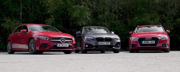 Competitia s-a mutat in strada. Noul Mercedes A-Class provoaca la duel Audi A3 si BMW Seria 1