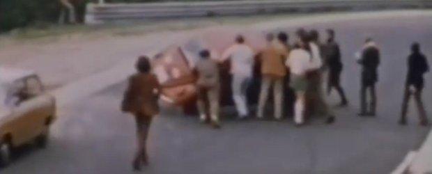Compilatie cu accidente retro: un viraj periculos pe Nurburgring in 1970