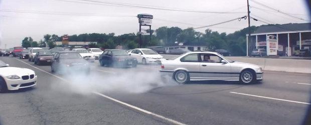 Compilatie plina de fum pentru cei mai fanatici iubitori de BMW M
