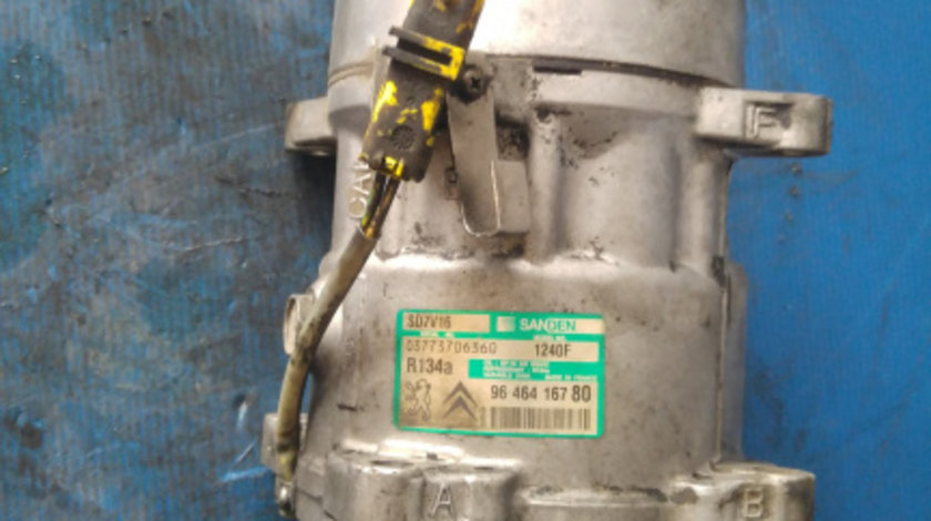 Compresor ac 2.0 hdi rhr peugeot 407 expert fiat scudo citroen jumpy dupa 2005 9646416780