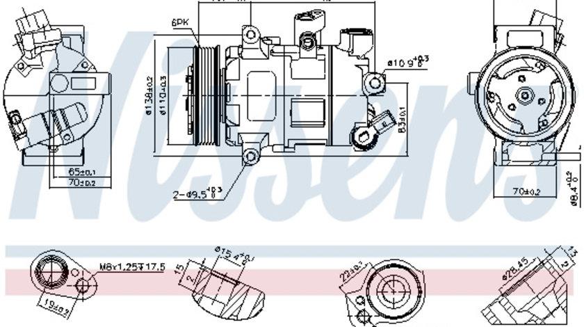 Compresor AC clima AUDI A1, A3, Q2, Q3, TT; SEAT ATECA, IBIZA IV, IBIZA IV ST, IBIZA V, LEON, LEON SC, LEON ST, TARRACO; SKODA FABIA III, KAROQ, KODIAQ, OCTAVIA III, RAPID 1.0-2.0 d dupa 2008