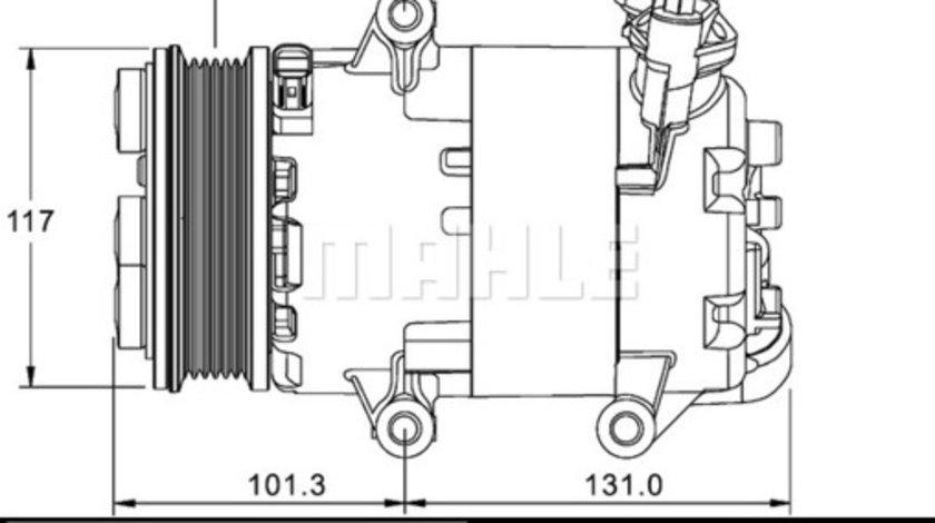 Compresor AC clima FORD GALAXY, MONDEO IV, S-MAX; LAND ROVER FREELANDER 2 2.2D intre 2006-2015
