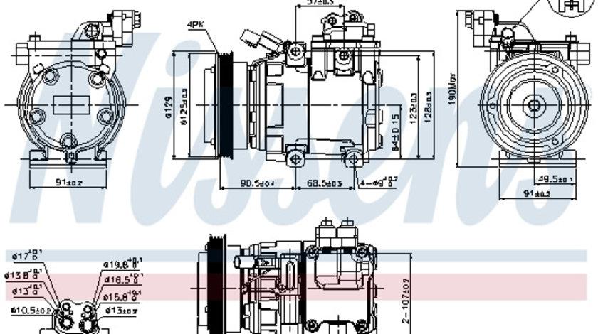 Compresor AC clima HYUNDAI COUPE, ELANTRA, LANTRA II, MATRIX, TUCSON; KIA SPORTAGE 1.8/2.0 dupa 1995