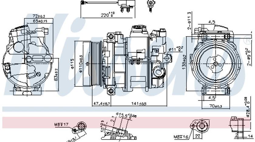 Compresor AC clima LAND ROVER DISCOVERY III, RANGE ROVER SPORT 4.2/4.4 intre 2004-2013