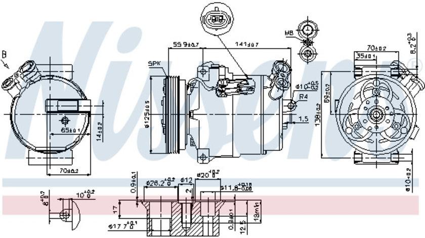 Compresor AC clima OPEL ASTRA G, SIGNUM, VECTRA B, VECTRA C, ZAFIRA A; SAAB 9-3, 9-3X 1.8-2.8 intre 2000-2015