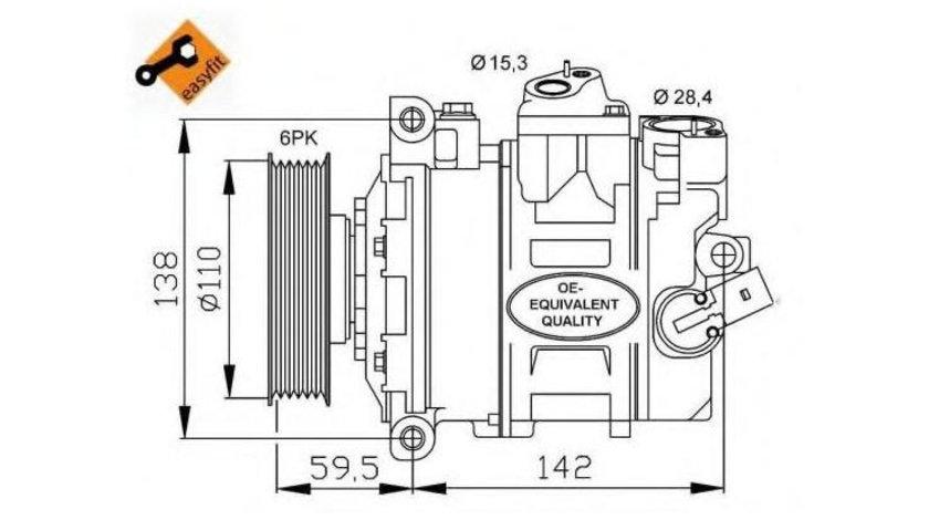 Compresor aer conditionat Audi A3 (2004-2013) [8PA] #3 1K0260859F