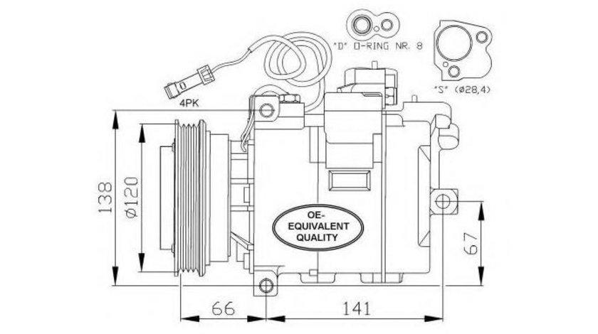 Compresor aer conditionat Volkswagen Passat B5(1996-2005) #2 0300K011