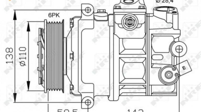 Compresor aer conditionat Volkswagen POLO (2009->)[6R] #2 1601