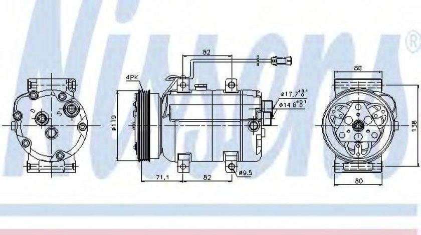 Compresor clima / aer conditionat AUDI A6 Avant (4B5, C5) (1997 - 2005) NISSENS 89029 produs NOU