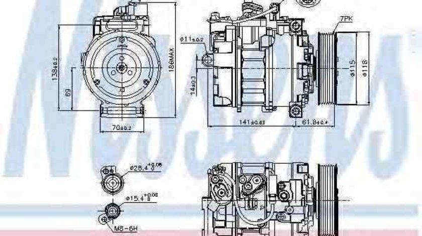 compresor clima aer conditionat AUDI A8 4E NISSENS 89210