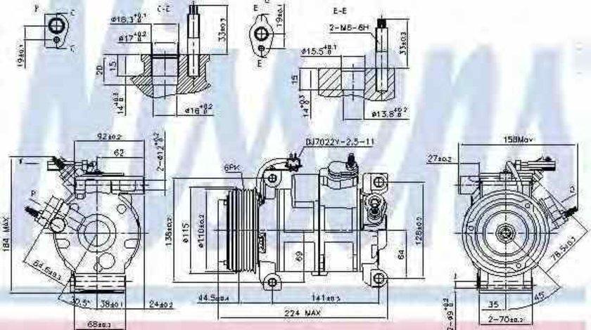 compresor clima aer conditionat CHRYSLER GRAND VOYAGER V RT NISSENS 890169