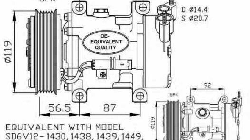 compresor clima aer conditionat CITROËN BERLINGO MF NRF 32227