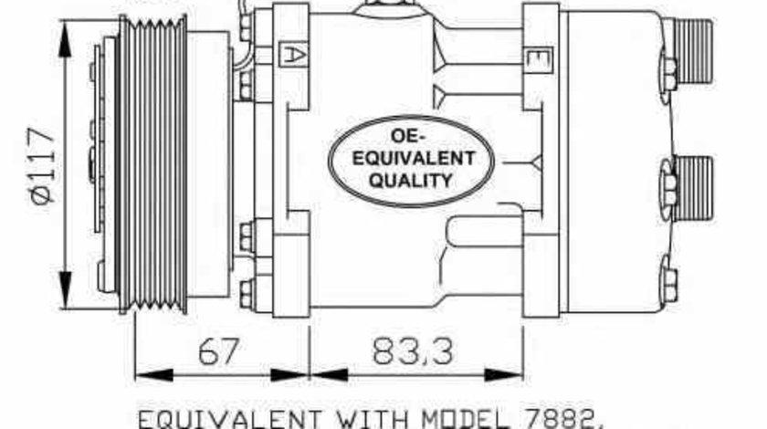 Compresor clima aer conditionat CITROËN JUMPER bus 244 Z NRF 32779