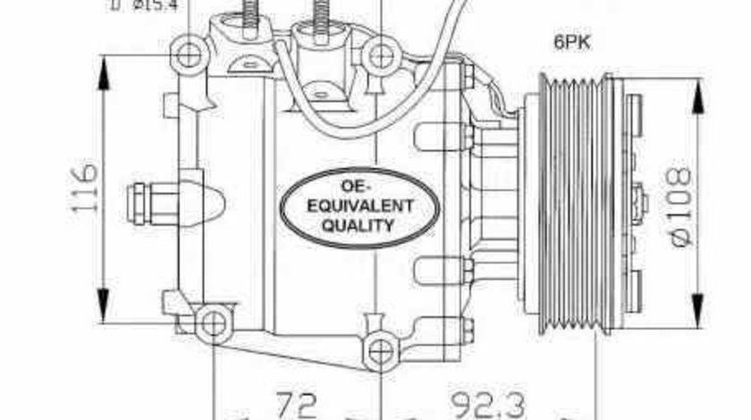 compresor clima aer conditionat HONDA CIVIC VII Hatchback EU EP EV NRF 32072
