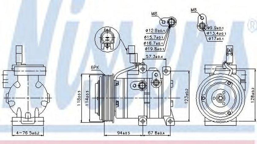 Compresor clima / aer conditionat HYUNDAI ACCENT IV limuzina (RB) (2010 - 2016) NISSENS 89533 - produs NOU