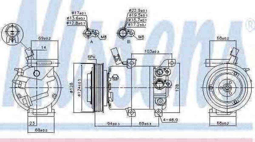 compresor clima aer conditionat HYUNDAI i20 PB PBT Producator NISSENS 890176