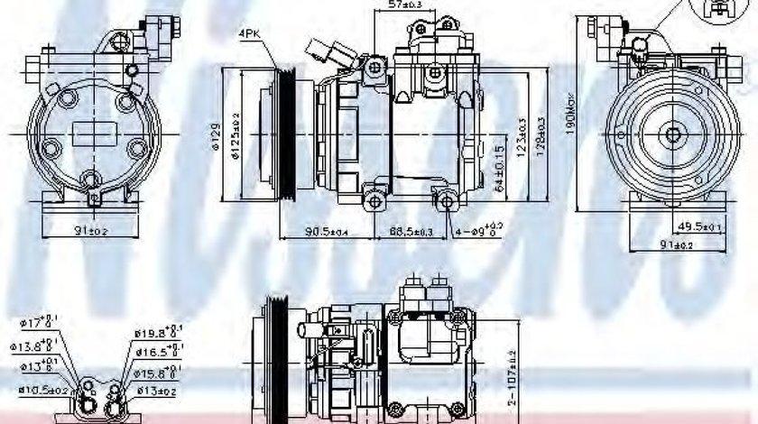 Compresor clima / aer conditionat HYUNDAI TUCSON (JM) (2004 - 2010) NISSENS 89082 - produs NOU