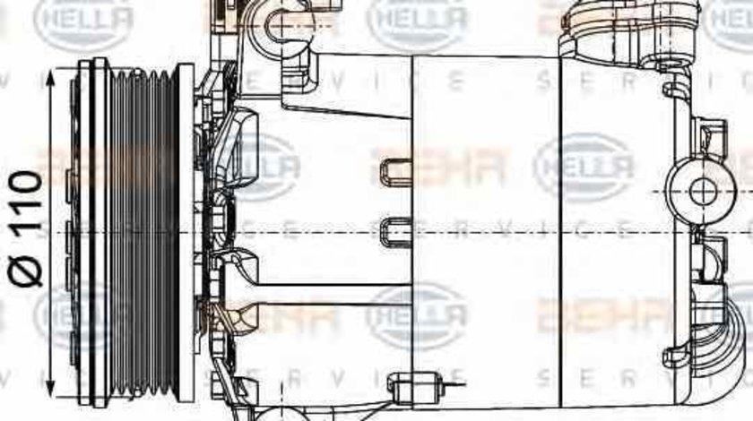 Compresor clima aer conditionat LAND ROVER RANGE ROVER EVOQUE LV HELLA 8FK 351 334-351
