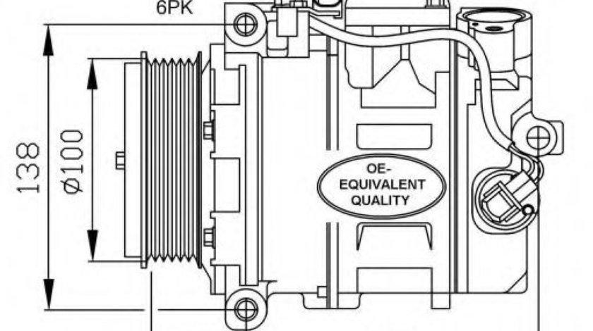 Compresor clima / aer conditionat MERCEDES S-CLASS Cupe (C215) (1999 - 2006) NRF 32256 produs NOU