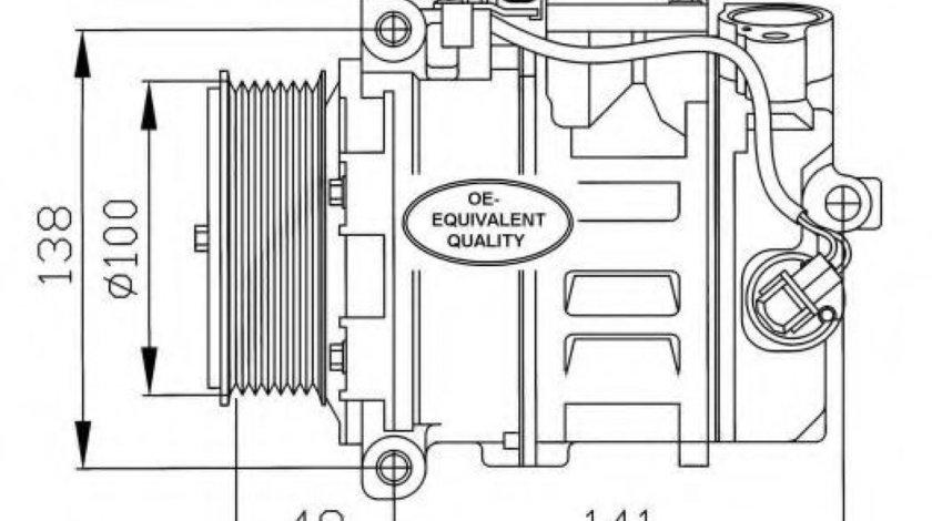 Compresor clima / aer conditionat MERCEDES S-CLASS Cupe (C215) (1999 - 2006) NRF 32216 produs NOU