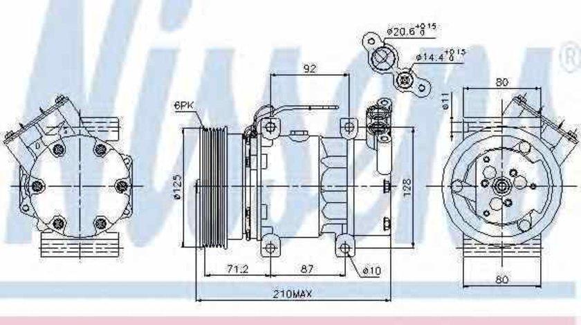 compresor clima aer conditionat RENAULT CLIO II BB0/1/2 CB0/1/2 Producator NISSENS 89064