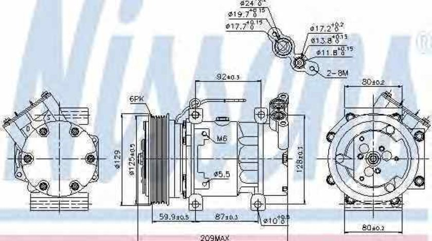 compresor clima aer conditionat RENAULT CLIO II BB0/1/2 CB0/1/2 NISSENS 89128