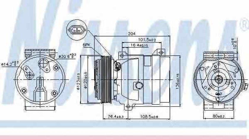 compresor clima aer conditionat RENAULT MEGANE I Classic LA0/1 Producator NISSENS 89063