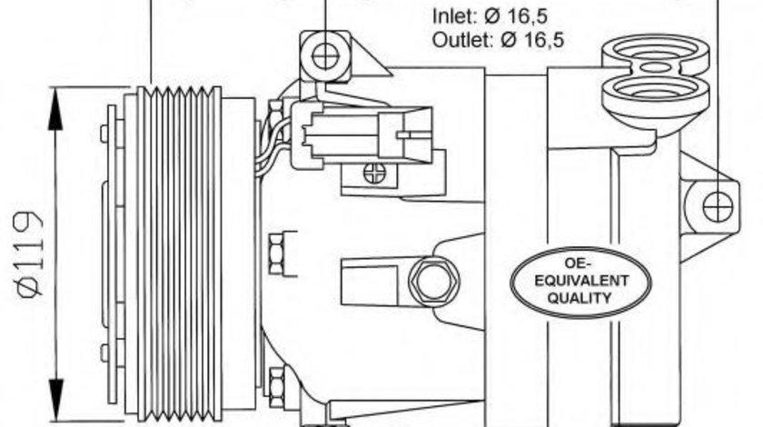 Compresor clima / aer conditionat SAAB 9-5 (YS3E) (1997 - 2009) NRF 32021 produs NOU