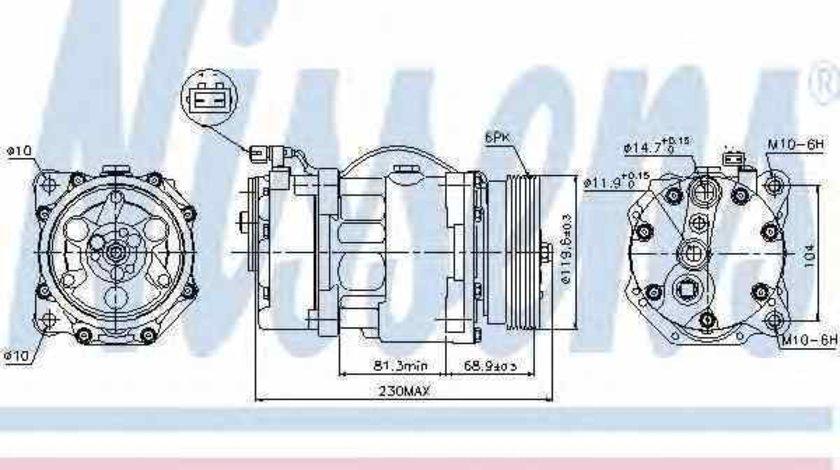 Compresor clima aer conditionat VW GOLF III Cabriolet 1E7 NISSENS 89040