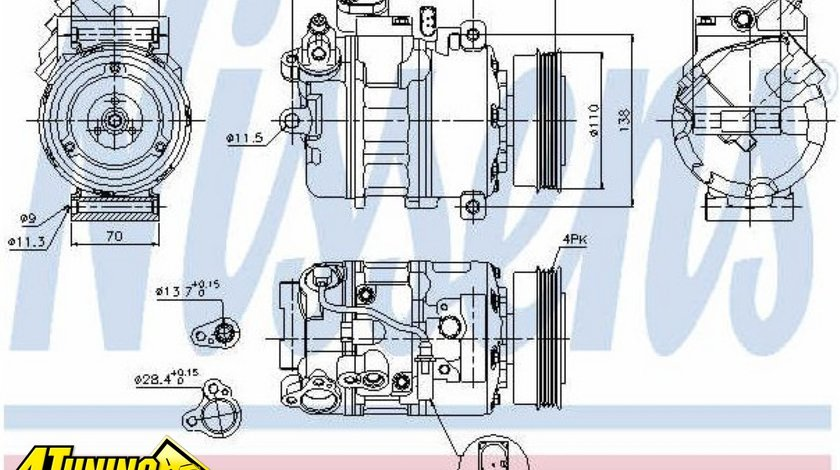 COMPRESOR CLIMA AUDI A4 8E2 B6 1 9 TDI