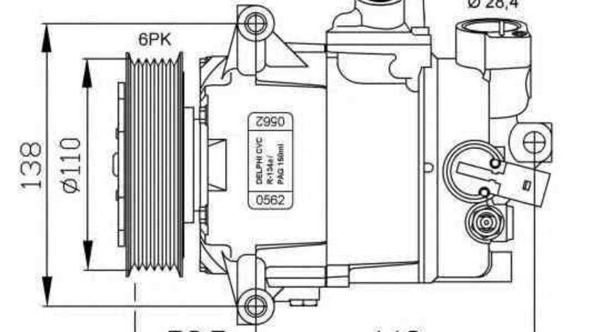 Compresor, climatizare AUDI A1 (8X1, 8XF) NRF 32500G
