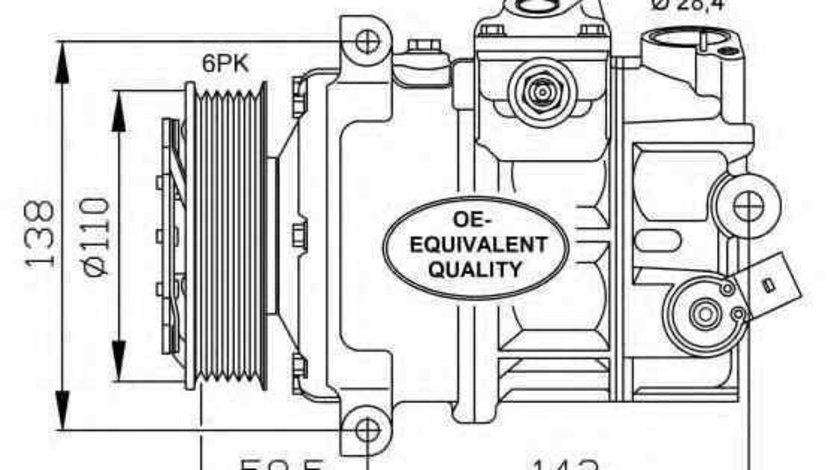 Compresor, climatizare AUDI A3 Sportback (8PA) NRF 32147