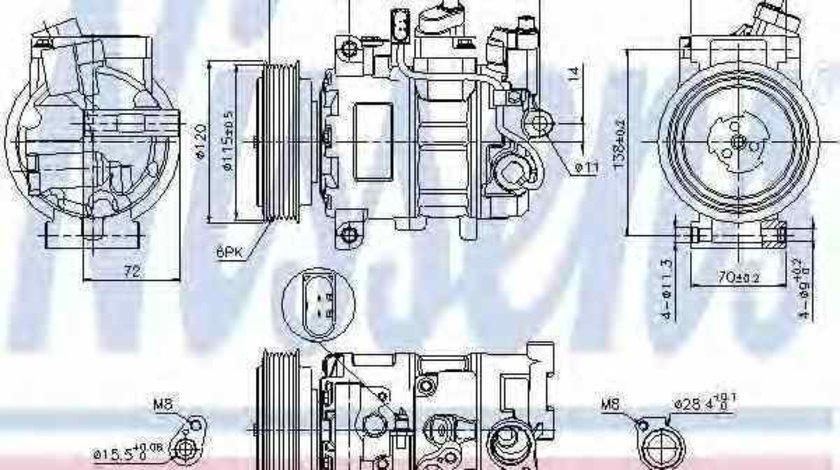 Compresor climatizare AUDI A4 Allroad 8KH B8 Producator NISSENS 89415