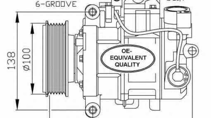 Compresor climatizare AUDI A4 Avant 8K5 B8 NRF 32263