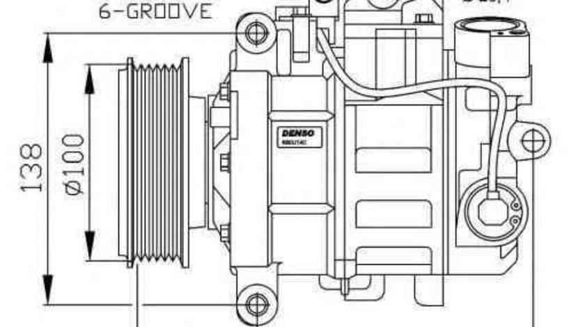 Compresor, climatizare AUDI A8 (4E_) NRF 32263G