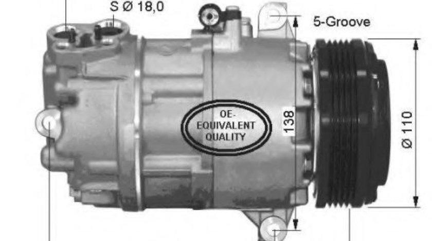 Compresor, climatizare BMW Seria 3 (E46) (1998 - 2005) NRF 32434 piesa NOUA