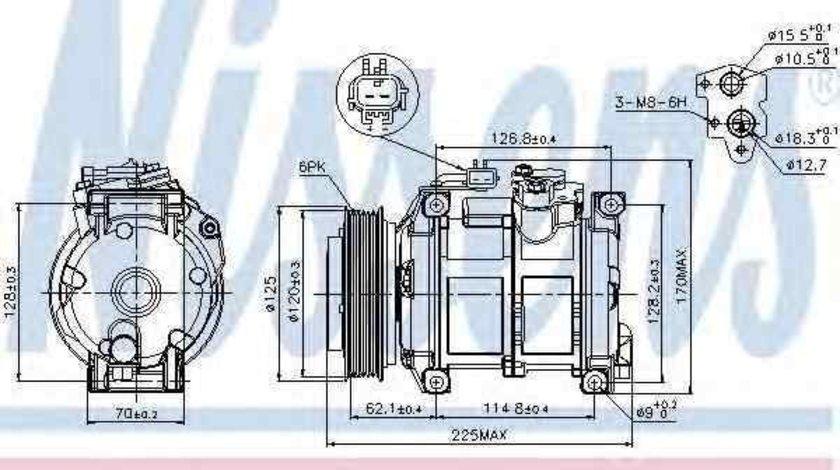 Compresor, climatizare CHRYSLER VOYAGER IV (RG, RS) NISSENS 89074
