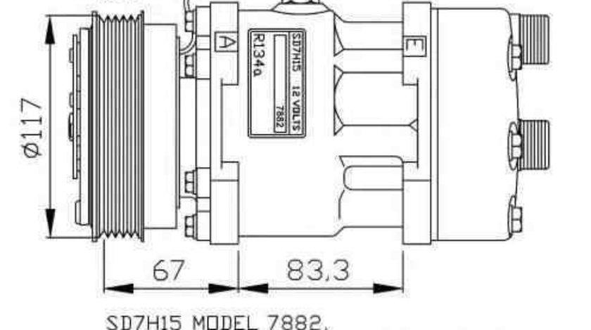 Compresor, climatizare CITROËN JUMPER platou / sasiu (244) NRF 32779G